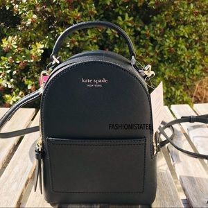 Kate Spade Cameron Mini Convertible Backpack Black